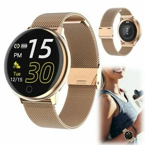 Stainless Steel Smart Watch Bluetooth Wristwatch Fitness Tracker Sleep Monitor