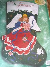 "Christmas Holiday Bucilla STOCKING FELT Kit,POINSETTIA PRINCESS,Angel,28"",84080"