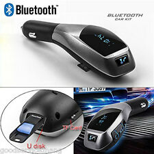 Bluetooth Wireless Handsfree Handset Speaker Car Kit Mobile Phone iPhone Car X5