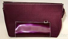 NEW Estee Lauder Eggplant Purple Cosmetic Travel Makeup Bag Case Zippered Pouch