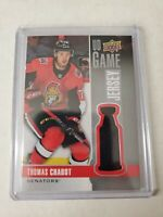 19-20 UPPER DECK UD GAME JERSEY #GJ-TC THOMAS CHABOT SENATORS