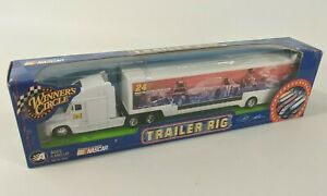 NASCAR Winners Circle Trailer Rig Transporter : White DuPont #24 Jeff Gordon