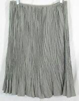 LAFAYETTE 148 Size 8 Gray Pleated Lightweight Wool Blend A Line Career Skirt