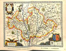Le Blésois ville de Blois Loir-et-Cher l'Orléanais Chambord France MAP CARTE 50s