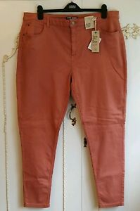 M&S Marks And Spencer Super Skinny Stretch Mid Rise Terracotta Jeans BNWT UK 22