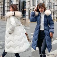 UK Women Quilted Padded Puffer Bubble Hooded Zip Coat Winter Lightweight Jacket