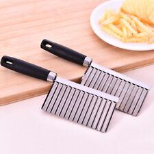 1x Stainless Steel Potato Wavy Cutter Vegetable Fruit Knife Slicer Kitchen Tools
