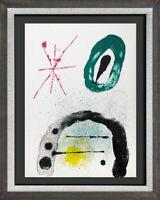 Joan MIRO Original COLOR Lithograph,  w/Custom Frame