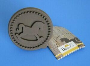 RBV Birkmann tampon Biscuits Cookie Hambourg 7 cm en bois et silicone