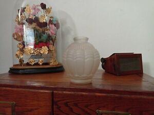 Vase art Déco signé Espaivet pâte de verre