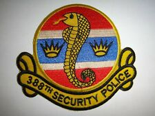 Vietnam War Patch Usaf 388th Security Police Squadron At Korat Afb Thailand