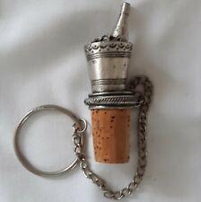 Pewter Wine Ice Bucket Wine Bottle Stopper Cork Chain Liquor Decanter Stopper