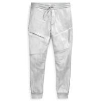 $595 Ralph Lauren Purple Label Mens RLX Silver Fleece Track Pants Relax Jogger