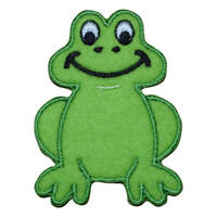 Dancing,Smiling,Thinking Frog Embroidery Iron On Applique Patch Happy,Jumping