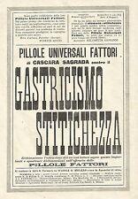 Y2134 Pillole Fattori di Cascara Sagrada - Pubblicità del 1903 - Old advertising