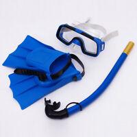 Boys Girls Kid Diving Mask Set Anti-Fog Swimming Goggle Masks Snorkel Fins Kit