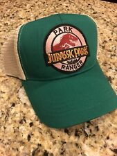 Jurassic Park Ranger Hat Trucker Embroidered Patch Cap Dinosaur Movie Green Tan