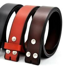 Black Brown Belt Without Buckle Faux Leather Vintage Strap One Layer Accessories