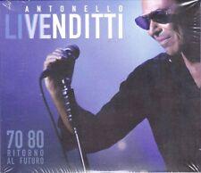 2 CD Box ANTONELLO VENDITTI • LIVENDITTI 70 80 RITORNO AL FUTURO nuovo digipack