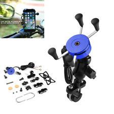 360° Motorcycle Bike Phone USB Fast Charging Wireless Charger Bracket Holder BT