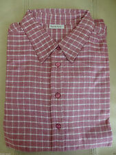 Checked Collared Long Sleeve Blouses for Women