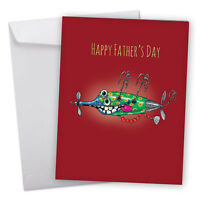 J5643GFDG Jumbo Father's Day Card: Off The Hook With Envelope greeting cards