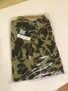 Cabela's Size Med Tall Frog Skin Duck Hunting Camouflage Long Sleeve  Shirt USA