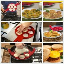 Q4U ® Pancake Maker Moule silicone Antiadhésif Breakfast Egg Ring Omelette Flip
