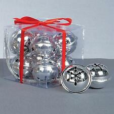 Premier Weihnachtsdekoration 8-pack Schneeflocke 40mm Jingle Bell Kugeln -