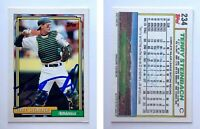 Terry Steinbach Signed 1992 Topps #234 Card Oakland Athletics Auto Autograph