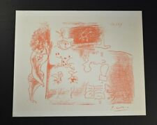 """Pablo Picasso, Hand Signed Lithograph """"Decalque du Rouge"""" from 1964, with COA."""