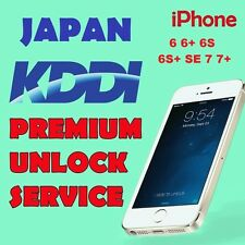 UNLOCK PREMIUM SERVICE AU KDDI JAPAN iPhone 5S 6 6+ 6s 6s+ SE 7 7+ All IMEI OK
