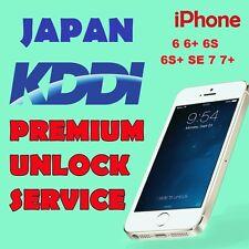 UNLOCK PREMIUM SERVICE AU KDDI JAPAN iPhone 5S 6 6+ 6s 6s+ SE 7 7+ All IMEI OK