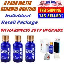 3 Pack MR.FIX 9H Anti-scratch Car Liquid Ceramic Coat Hydrophobic Glass Coating