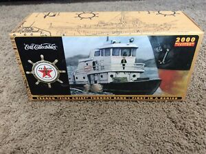 "1967 Texaco ""Fire Chief"" Model Tugboat Bank, #1 in Nautical Series MIB Ertl 2000"