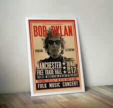 More details for bob dylan 'judas' concert poster reproduction manchester free trade hall 60s