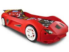 Kids Storm Plastic Childrens Junior Racing Car Bed and Mattress Cool Styling