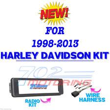 98-2013 HARLEY TOURING INSTALL ADAPTER FLHT STEREO RADIO FLHTC CD DASH KIT FLHX