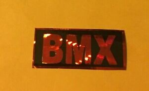 OLD SCHOOL BMX  Decal  Metallic Red Holographic Prism Haro Hutch Robinson CW GT