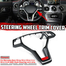 Carbon Steering Wheel Trim Cover Replacement For Mercedes W204 W212 W117 AMG