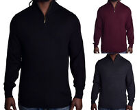 Club Room Men's $75 1/4 Zip Merino Wool Pull Over Sweater Choose Size & Color