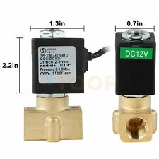 14 Electric Brass Solenoid Valve 12v Dc For Water Air Gas Fuel Nc