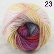 SALE NEW Chunky Colorful Hand Knitting Scores Wool Yarn Light Yellow lilac Red