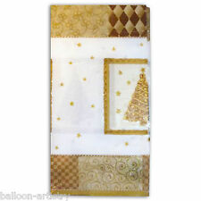 "54""x102"" Gold All That Glitters Christmas Tree Paper Party Table Cover"