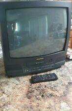 "SYLVANIA 19"" Color TV/VCR Combo 4-Head VHS Player Model SRC22194 Gaming Travel"