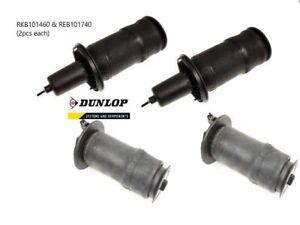 Range Rover P38 Suspension Airbag Set - REB101740 (x2) & RKB101460 (x2) - DUNLOP