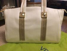 Versace Jeans Bolso de mano, blanco con detalles de oro
