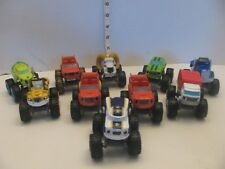 Lot of 10 Blaze and the Monster Machines Trucks Mattel Viacom Diecast See Photos