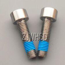 2pcs M7 x 25 Titanium Ti Screw Bolt Allen hex Socket Cap head with ThreadLocker