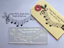 Jingle Bells, Christmas Music Clear Stamp for Handmade / Handcrafted Cards
